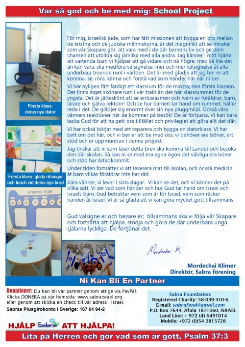 Prayer Letter - School Project - May 2018 - Swedish - Page 2